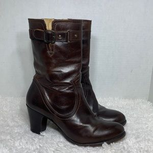 Frye #77407 Brown size 8.5 zip boots leather